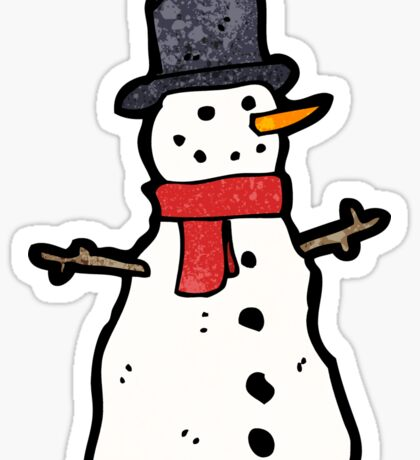 cartoon snowman Sticker