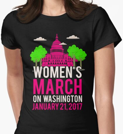 Women's March on Washington Commemorative  Womens Fitted T-Shirt
