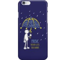 Music Never Lets You Down iPhone Case/Skin