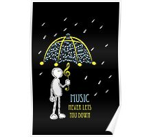 Music Never Lets You Down Poster