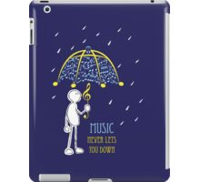 Music Never Lets You Down iPad Case/Skin