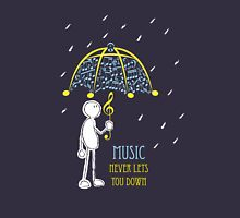 Music Never Lets You Down Unisex T-Shirt