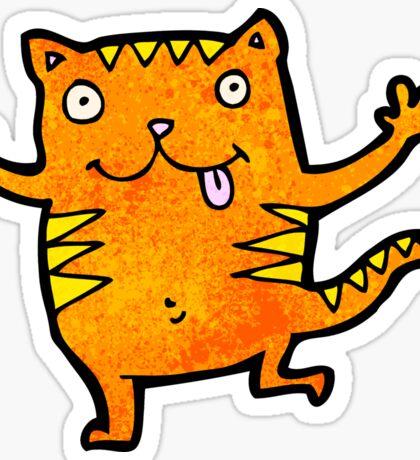 cute cartoon cat Sticker