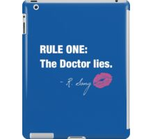 Doctor Who - Rule One on dark iPad Case/Skin