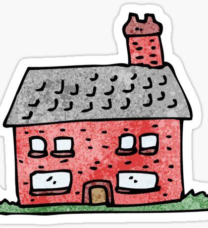 cartoon farmhouse Sticker