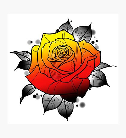 Tattoo Rose Photographic Print