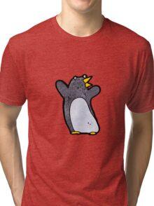 funny cartoon penguin Tri-blend T-Shirt