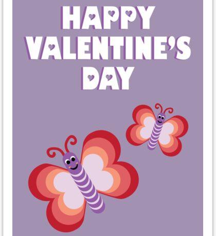 Kids Valentines butterflies Sticker