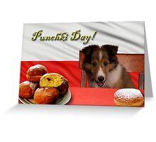 Punchki Day Sheltie Puppy Greeting Card