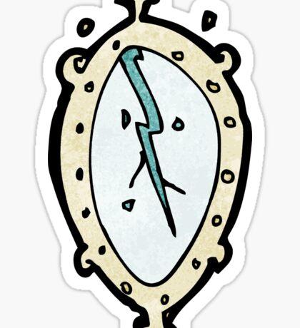 cracked mirror cartoon Sticker