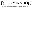 Determination A poor substitute for reading the instructions by SlubberBub