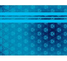 Quilted Blue Pattern Photographic Print