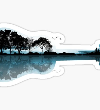 Nature Guitar Sticker