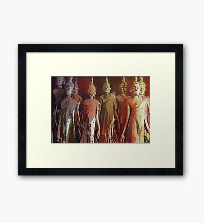 Standing Buddha statues- Laos Framed Print