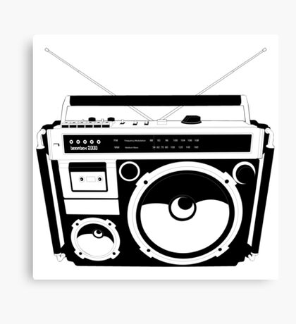 1980s Boombox in da hood Canvas Print