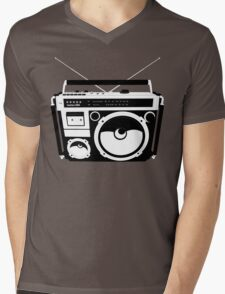 1980s Boombox in da hood Mens V-Neck T-Shirt