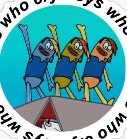Boys Who Cry Sticker Sticker