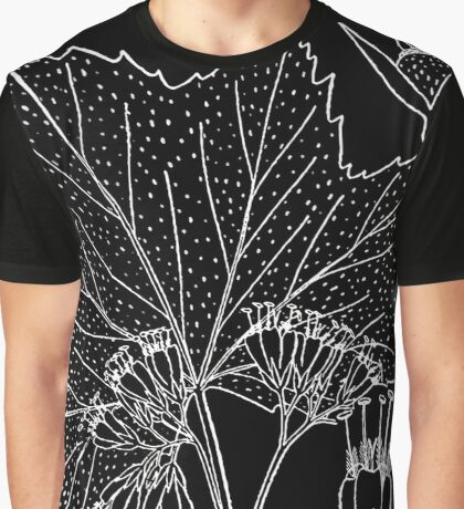 Britton And Brown Illustrated flora of the northern states and Canada 0818 Hydrophyllum canaden Graphic T-Shirt