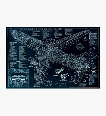 McDonnell Douglas MD-11 sketch Photographic Print