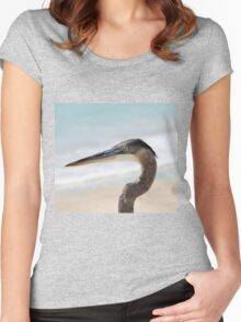 Beached Heron Women's Fitted Scoop T-Shirt