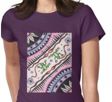 Doodle Pattern Womens Fitted T-Shirt