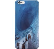 Staring into an ice hole iPhone Case/Skin