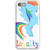Rainbow Dash - Loyalty  iPhone Case/Skin
