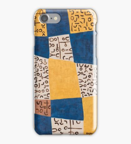 Delft Blue and Indian Yellow  iPhone Case/Skin