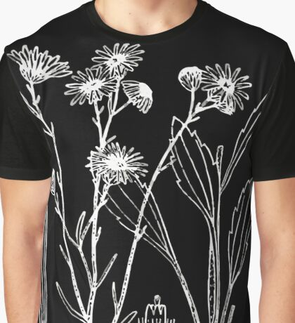Britton And Brown Illustrated flora of the northern states and Canada 0838 Illustration Erigeron strigosus1 Graphic T-Shirt