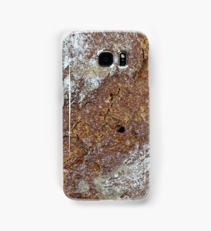 Macro photo of the surface of brown bread Samsung Galaxy Case/Skin