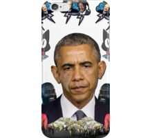 mc obama [featuring dr phil, lil b, and mathew knowles in a cloud] iPhone Case/Skin