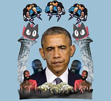 mc obama [featuring dr phil, lil b, and mathew knowles in a cloud] Unisex T-Shirt