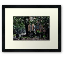 Camperdown Historic Cemetery Framed Print
