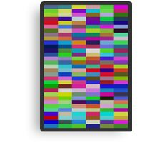 Pi Chart, Blocks Canvas Print