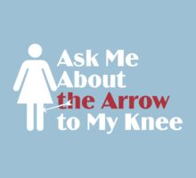 Skyrim - Ask Me About the Arrow (female) on dark Kids Clothes
