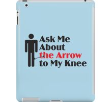 Skyrim - Ask Me About the Arrow (male) iPad Case/Skin