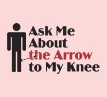 Skyrim - Ask Me About the Arrow (male) Kids Clothes
