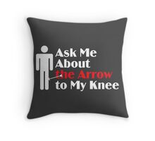 Skyrim - Ask Me About the Arrow (male) on dark Throw Pillow