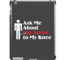 Skyrim - Ask Me About the Arrow (male) on dark iPad Case/Skin