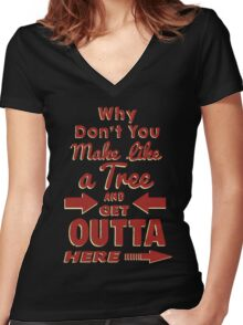 The Immortal Words of Biff Tannen Women's Fitted V-Neck T-Shirt