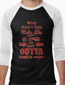 The Immortal Words of Biff Tannen Men's Baseball ¾ T-Shirt
