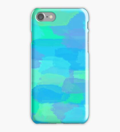 Blue and Green Watercolor  iPhone Case/Skin