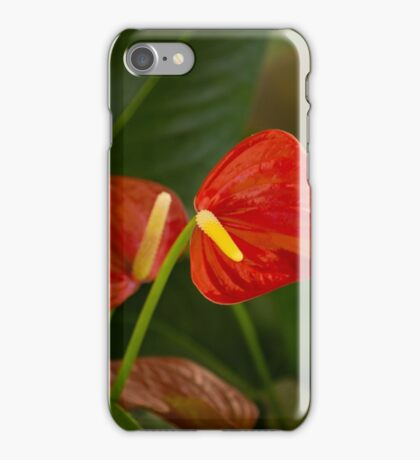 Exotic Tropical Dream Garden - Hot Red Hearts and Lush Green iPhone Case/Skin
