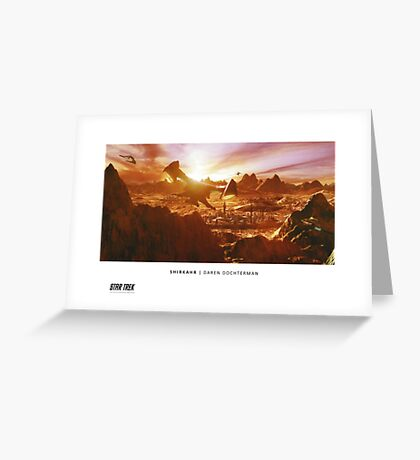 Ships of the Fleet - Shirkahr Greeting Card