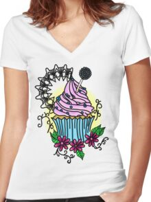 Cupcake, cupcake! Women's Fitted V-Neck T-Shirt