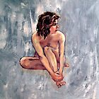'Lucy' ~ Female nude, oil painting on canvas  by Roz McQuillan