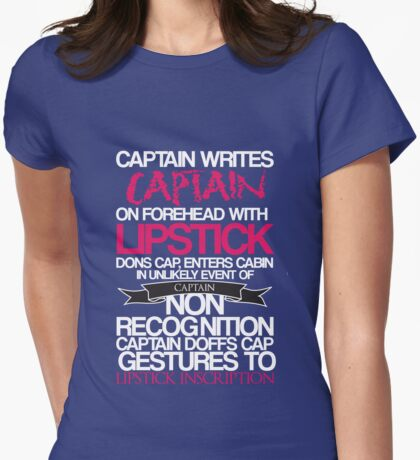 Captain Lipstick  Womens Fitted T-Shirt