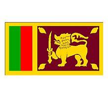 Sri Lanka Flag Photographic Print