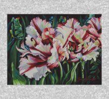 Fancy Parrot Tulips One Piece - Short Sleeve