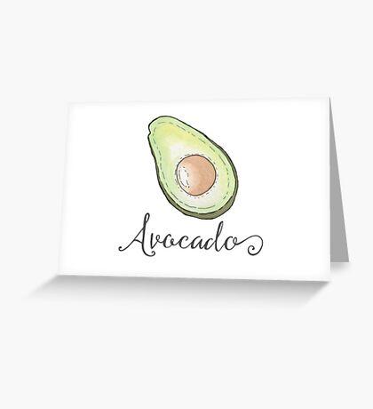 Avocado Watercolor Fruit Greeting Card